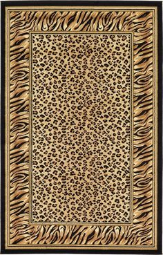 Safari Light Brown Area Rug