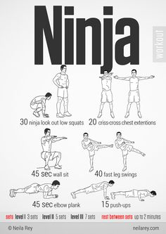 Ninja Workout...the you can't see me workout
