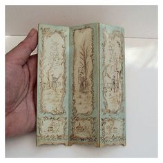Gorgeous hand-painted screen, open house miniatures on etsy