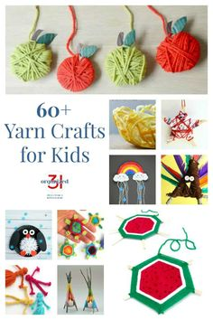 Looking for educational, creative & fun yarn crafts for kids? With 65 crafts+ & kids activities there is something for all ages, skills & interests. Easy Yarn Crafts, Yarn Crafts For Kids, Diy Crafts For Girls, Diy Crafts Videos, Toddler Crafts, Diy For Kids, Crafts To Make And Sell Unique, Crafts To Sell, Fun Activities For Kids