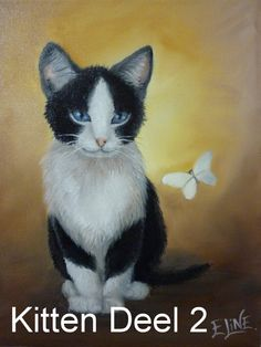 kitten in olieverf real-time, Deel 1 - (kat, poes, cat oilpainting) tutorial alla-prima Painting Tutorials, Animals, Youtube, Style, Art, Swag, Art Background, Animales, Animaux
