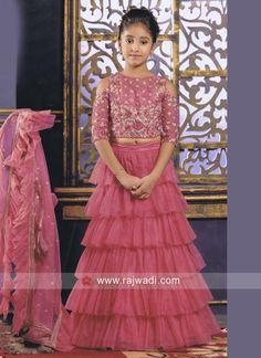 buy online lehenga choli with price Kids Party Wear Dresses, Kids Dress Wear, Wedding Dresses For Kids, Baby Girl Party Dresses, Kids Gown, Little Girl Dresses, Baby Girl Lehenga, Lehenga For Girls, Lehanga For Kids