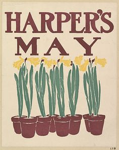 Edward Penfield (American, 1866–1925). HARPER'S / / MAY, 1899. The Metropolitan Museum of Art, New York. Museum Accession, transferred from the Library, 1957 (57.627.9(48)) #spring