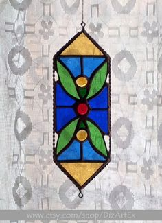 Pendant Leaves. Suncatcher. Ornament. Window decor. by DizArtEx
