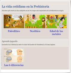 """DOCE RECURSOS PARA EL ESTUDIO DE """"LAS ETAPAS DE LA PREHISTORIA"""" EN EDUCACIÓN PRIMARIA"""