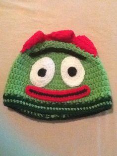 Yo Gabba Gabba Brobee crochet toddler hat
