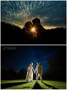 Artistic Charleston Wedding Photography - Night Sky and Sunset Photos - Monks Corner, SC, www.valerieandco.com Charleston Photographers, Park Weddings, Sunset Photos, Night Skies, Crisp, Reception, Wedding Inspiration, Corner, Wedding Photography