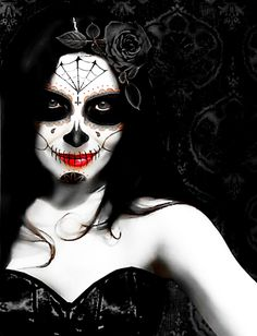 Day of the Dead IV in black by ~silcuper