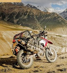Our crew of Upshift International contributors have delivered the goods on this one, starting with Greg Smith. Greg travels to the Himalayan mountains on a Royal Enfield Bullet and proves you can still have an epic ride without all the latest bells a. Enduro Motorcycle, Motorcycle Camping, Motorcycle Adventure, Motorcycle Touring, Gs 1200 Adventure, Adventure Tours, Offroad, Rallye Raid, Gs500