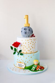 Little Prince - cake by Dimi's sweet art Prince Birthday Party, 2 Birthday Cake, Boy Birthday Parties, Birthday Party Decorations, Prince Party Favors, Little Prince Party, The Little Prince, Prince Cake, Little Man Birthday