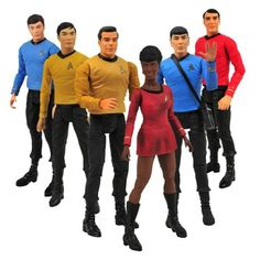 Star Trek Original Series Seven Inch Action Figure Two-Pack Set of Three ? The Toy Shop. I love that this includes a Red Shirt guy.