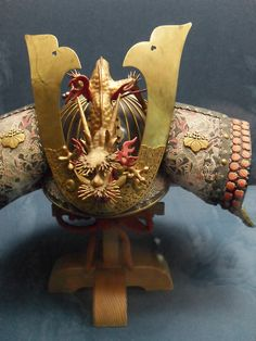 Samurai helmet, on display at the Tokyo National Museum. About 18th century, Japan