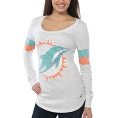 Miami Dolphins Nike Women s Take it Long Long Sleeve T-Shirt - White b55f74efd