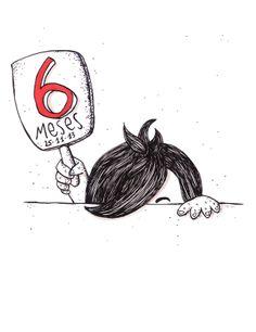 184 días, 1104 pañales, 1472 biberones, 1 catarro, 45 purés, 2 coscorrones, 86 tirones de pelo… y cientos de miles de sonrisas y carcajadas!!!! Porque no he visto niña que se ría más en el mundo y nos haga más felices... FELIZ 6º CUMPLEMES!! Trinidad García Illustration //////// #birthday #cumpleaños #cumplemes #baby #happy #celebration #ilustracion #illustration