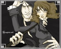 Snape and Granger untitled by usagistu on DeviantArt