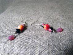 Boucles d'oreilles 'aquarelles électriques de printemps' : Boucles d'oreille par la-wyverne