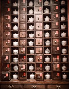This is what a Chinese herb cabinet looks like in China. | Healthy ...