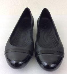 Crocs Women s Cap Toe Flat Casual Shoes Size 7W  Crocs  Flats  Casual Crocs fcf0532df