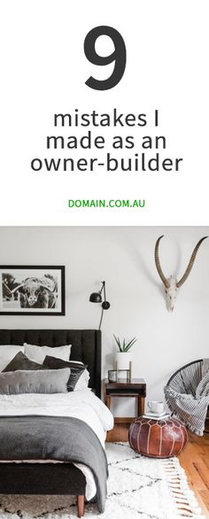 Nine mistakes I made as an owner-builder Home Building Tips, Building A House, Home Bedroom, Bedroom Decor, Cheap Houses, Living Room Decor, Living Area, Reno, Open Plan Living