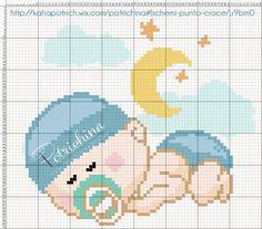 nascita - bimbo - baby - schema punto croce