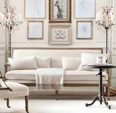 ivory living room- gorgeous