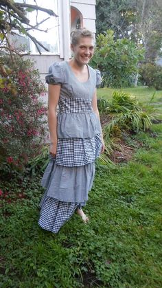 Black & White Gingham Maxi Dress With by FernsAndFogVintage, $22.00