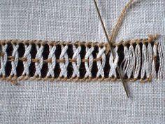 Risultato immagini per technique des jours en broderie Embroidery Stitches Tutorial, Embroidery Sampler, Hardanger Embroidery, Embroidery Art, Cross Stitch Embroidery, Creative Embroidery, Simple Embroidery, Hand Embroidery Designs, Embroidery Patterns