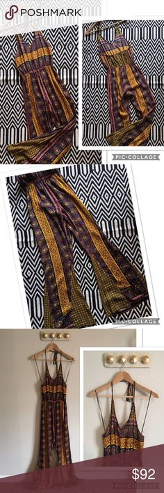 Chelsea & Violet bohemian jumpsuit, anthropologie NWOT. Chelsea & Violet bohemian jumpsuit. Anthropologie. Size XS. 100% rayon. Open back. Elastic waistband. Approximately 59 inches long. Measurements pictured. Chelsea & Violet Pants Jumpsuits & Rompers