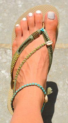Sandals Women Shoes Boho Shoes Flip Flops Hippie Sandals