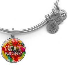 Alex and Ani Peace of Mind Bangle Silver Finish Want this one SOOOO BAD OMG