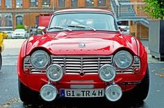 Triumph TR4, via Flickr...we had a brown one when we first got married (and Gib had it while we were dating)!