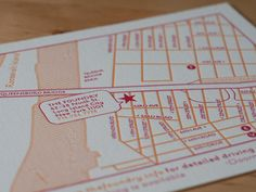 Jessica and David — Wedding Invitation map — Design des Troy