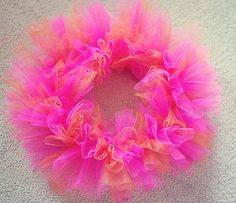 DIY Tulle Wreath for a Tutu Birthday Party