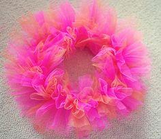 DIY Tulle Wreath for a Tutu Birthday Party