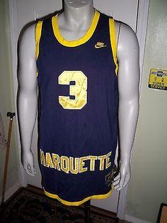 605a33d20ef ... dwayne wade marquette golden eagles nike xl basketball jersey ncaa blue college  marquette golden eagles 3