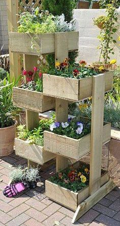 Pallets and flowers