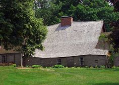 Oldest standing timber frame house in North America.  Exterior view of Fairbanks House in Dedham, MA