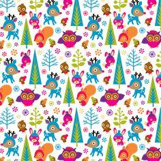 Amy Blay - woodland creatures - pattern - lilla rogers studios