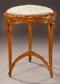 Louis Majorelle (France 1859–1926), Nancy, Table, Mahogany with Fruit Wood Inlays.