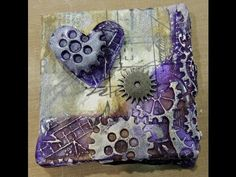 CHA 2013 with Debbie Tlach showing Melt Art and Texture Treads - new colours - great for mixed media art.