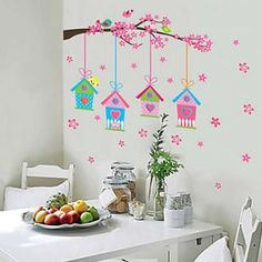 Landscape Christmas Decorations Florals Wall Stickers