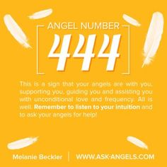 Angel Number 444   This is a sign that your angels are with you, supporting you, guiding you and assisting you with unconditional love and frequency. All is well.   Remember to listen to your intuition and to ask your angels for help!  Learn more about the meaning of seeing 444 here:  http://www.ask-angels.com/spiritual-guidance/angel-number-444/  #angelnumbers #spiritualguidance