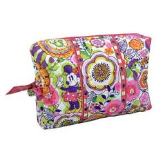 Your WDW Store - Disney Vera Bradley Bag - Bouncing Bouquet - Pink Cosmetic Case