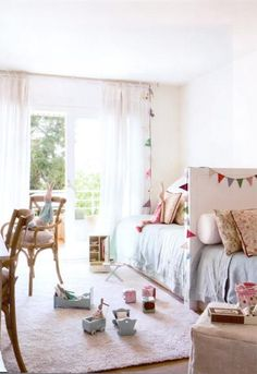 How to decorate shared children's bedrooms - Decor Scan : The new way of thinking about your home and interior design Childrens Bedrooms Shared, Childrens Room, Girls Bedroom, Girl Room, Ideas Dormitorios, Deco Kids, Deco Design, Home Remodeling, Room Decor