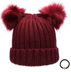 Women's Winter Chunky Knit Double Pom Pom Beanie Hat With... https://www.amazon.com/dp/B01LOYLTNM/ref=cm_sw_r_pi_dp_x_da0Wyb003K84K