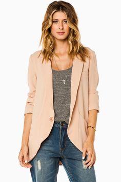 ShopSosie Style : Devan Blazer in Blush