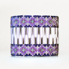 Purple Beaded Porcupine Quill Bracelet by Beyond Buckskin Boutique #jewelry #native