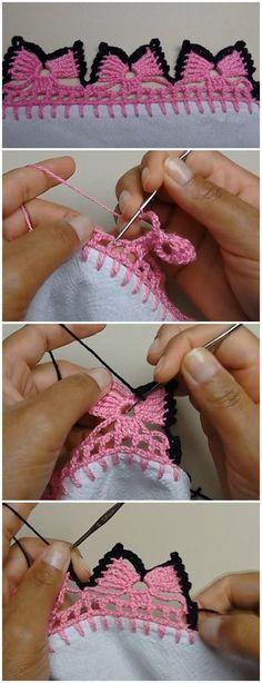 Crochet Bow Edging