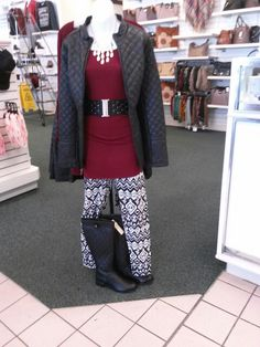The quilted look: jacket belt and purse... get the look