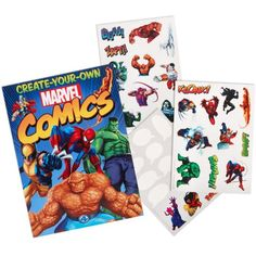 Marvel Create Your Own Comic Book with Stickers Party Accessory - List price: $11.90 Price: $2.70 Saving: $9.20 (77%)